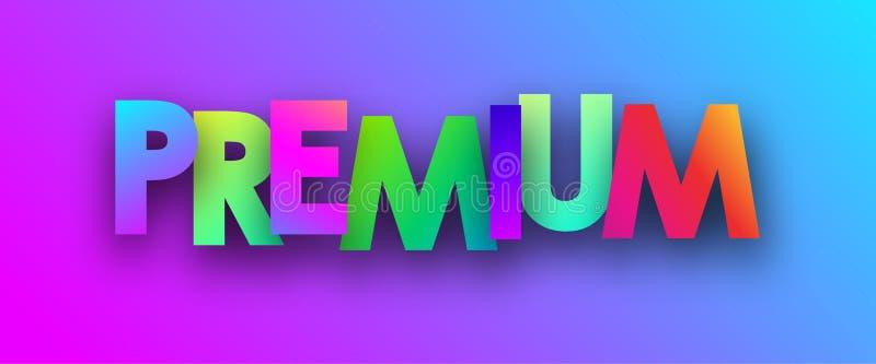 Högvärdig bakgrund för färgrikt spektrum stock illustrationer