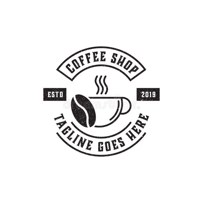 Högvärdig coffee shop Logo Inspiration, tappning, lantligt och retro royaltyfri illustrationer