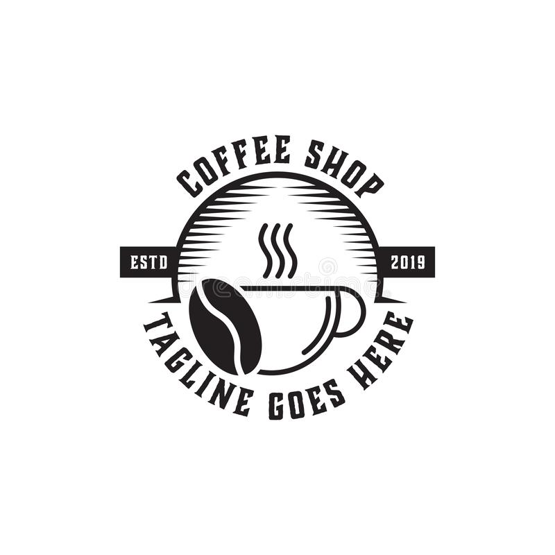 Högvärdig coffee shop Logo Inspiration, tappning, lantligt och retro vektor illustrationer