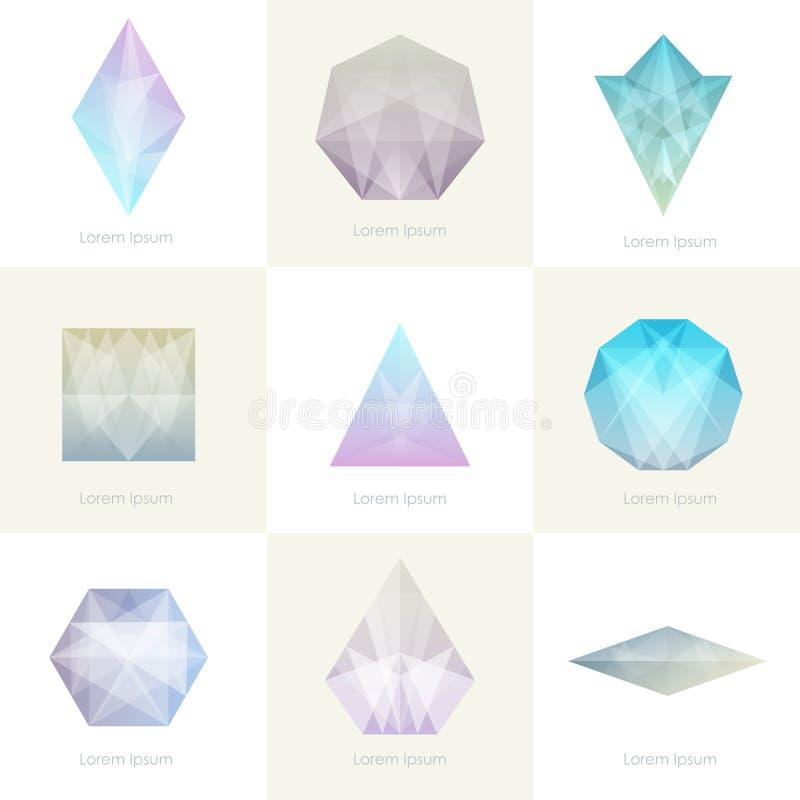 Högvärdig färgrik samling vektor illustrationer