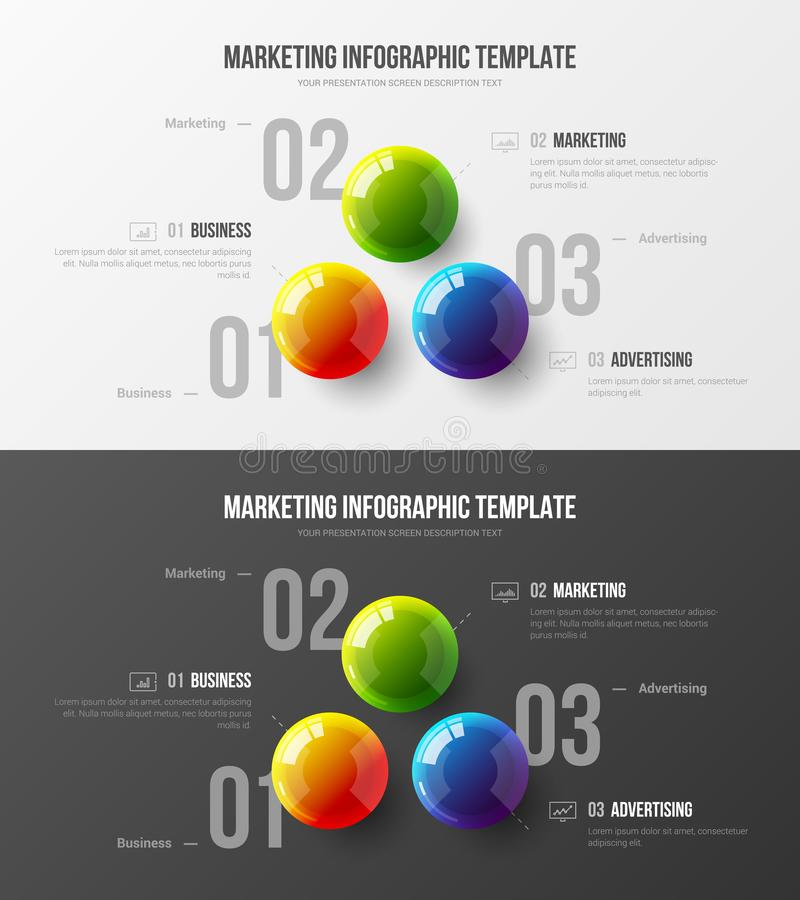 Högvärdig kvalitets- mall för illustration för vektor för marknadsföringsanalyticspresentation Orientering för design för visuali royaltyfri illustrationer