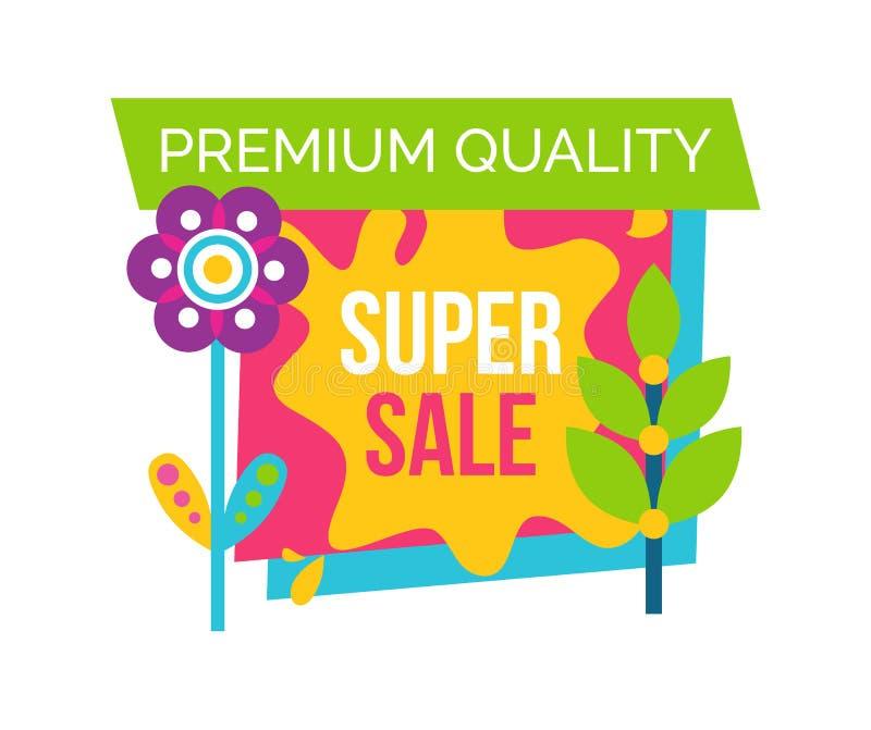 Högvärdig kvalitets- toppen knopp för stil för Sale etiketttecknad film stock illustrationer