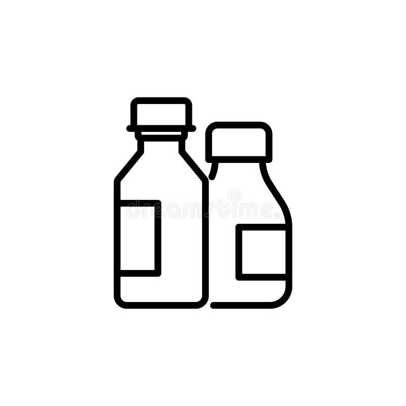 Högvärdig läkarbehandlingsymbol eller logo i linjen stil stock illustrationer