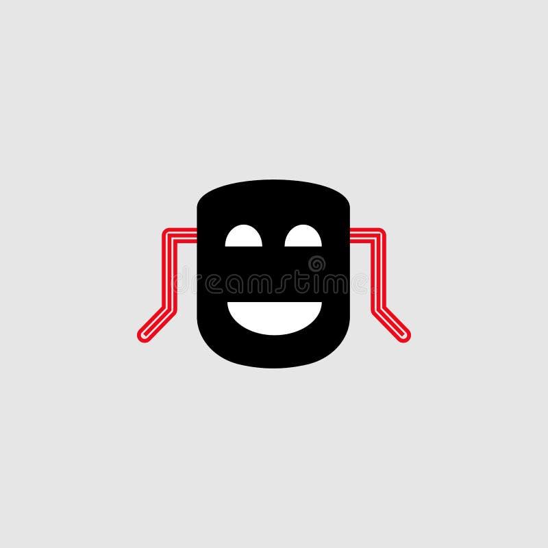 Högvärdig symbol för drama Beståndsdel av teatersymbolen för mobila begrepps- och rengöringsdukapps Den specificerade högvärdiga  stock illustrationer