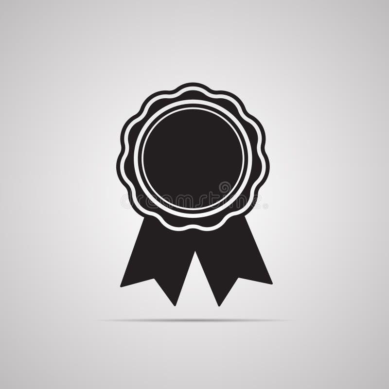 Högvärdigt band för medalj med slut för illustration vektor illustrationer