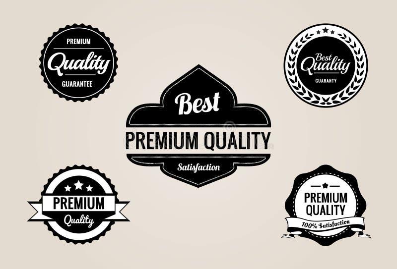 Högvärdigt kvalitets- & garanti märker samlingen - retro design arkivfoton