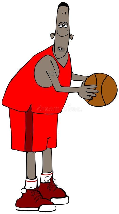 Högväxt etnisk basketspelare vektor illustrationer