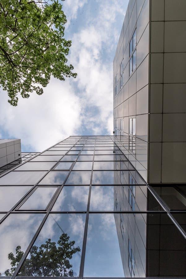 Högväxt glass kontorsbyggnad royaltyfria foton