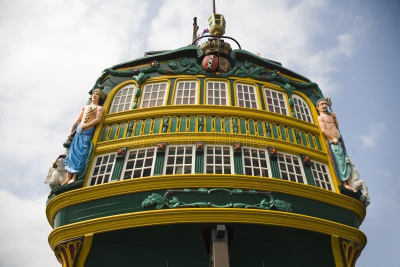 högväxt holländsk ship 5 royaltyfria bilder