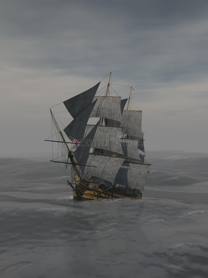 högväxt ship royaltyfri illustrationer