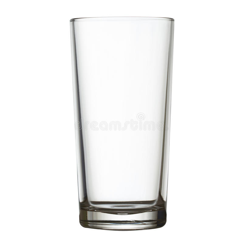 Högväxt tomt exponeringsglas på den snabba banan för vitw arkivfoton