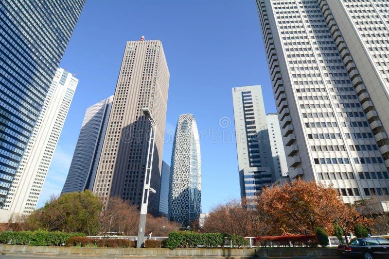 Högväxta byggnader i Shinjuku, Tokyo, Japan arkivbild