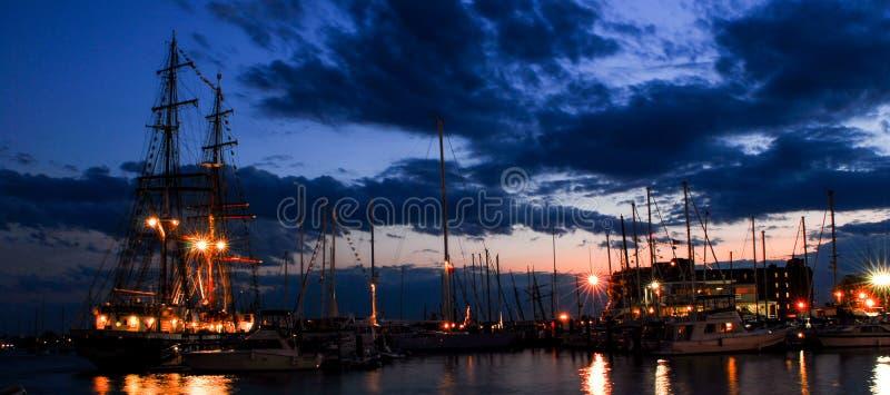 Högväxta skepp, Newport, Rhode - ö royaltyfria foton