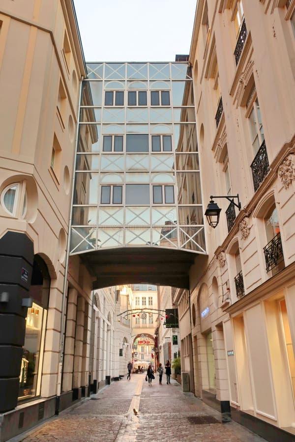 Höhenweg in der Altstadt von Lille, Vieux Lille, Frankreich stockfotografie