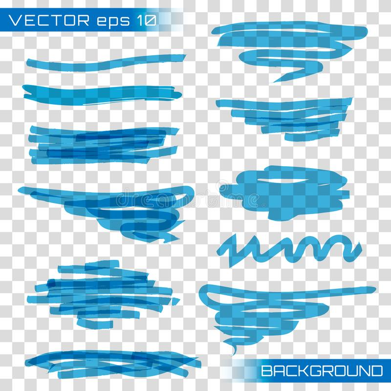 Höhepunktmarkierungsvektor vektor abbildung
