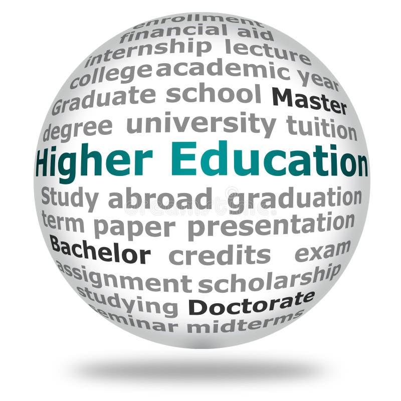 Höhere Ausbildung lizenzfreie abbildung