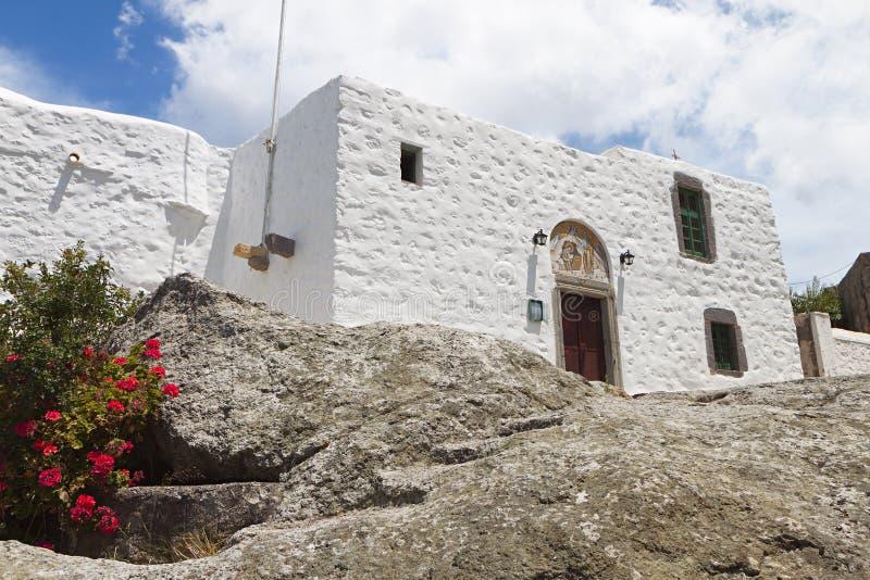 Höhle der Apocalypse in Patmos-Insel, Griechenland lizenzfreie stockfotos