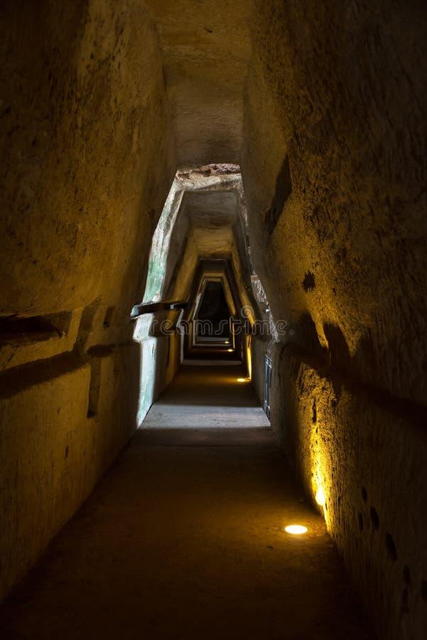 Höhle der Sybille, Cumae Italien lizenzfreie stockbilder