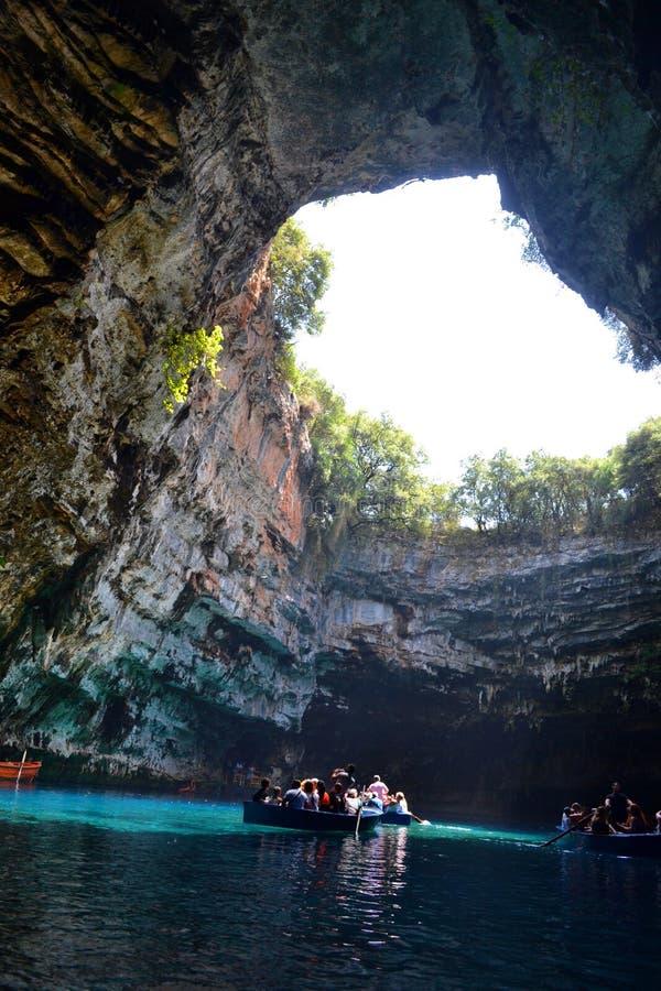 Höhle Melissani, Griechenland stockfoto