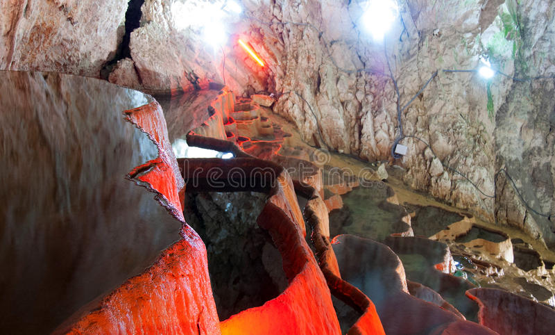 Höhle, Stopic, Serbien stockfotos