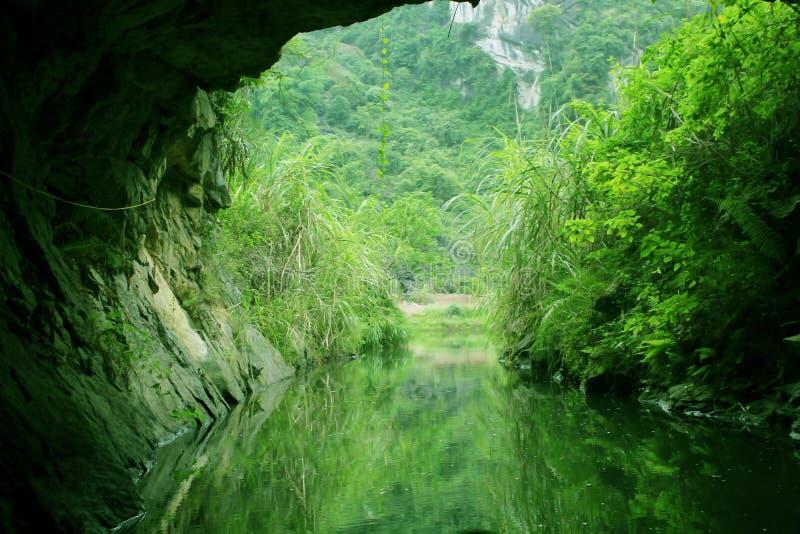 Höhle in Tam Coc River stockbild