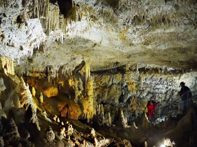 Höhlen-Raum, Stalagmit-Stalaktiten stockbilder