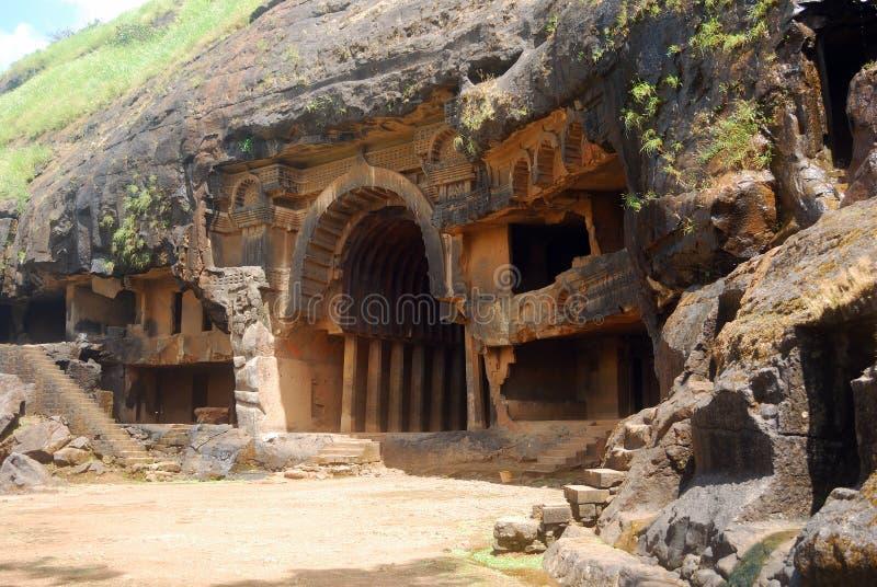 Höhlen Sie Tempel, Bhaja, Maharashtra, Indien aus stockbilder