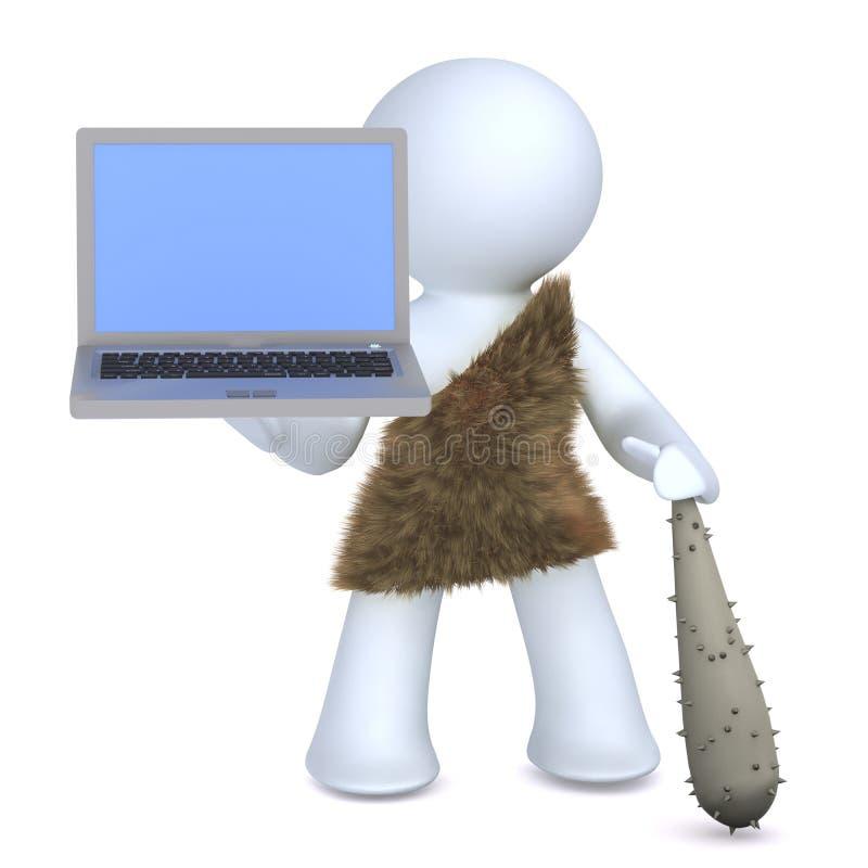 Höhlenbewohner und Technologie lizenzfreie stockbilder