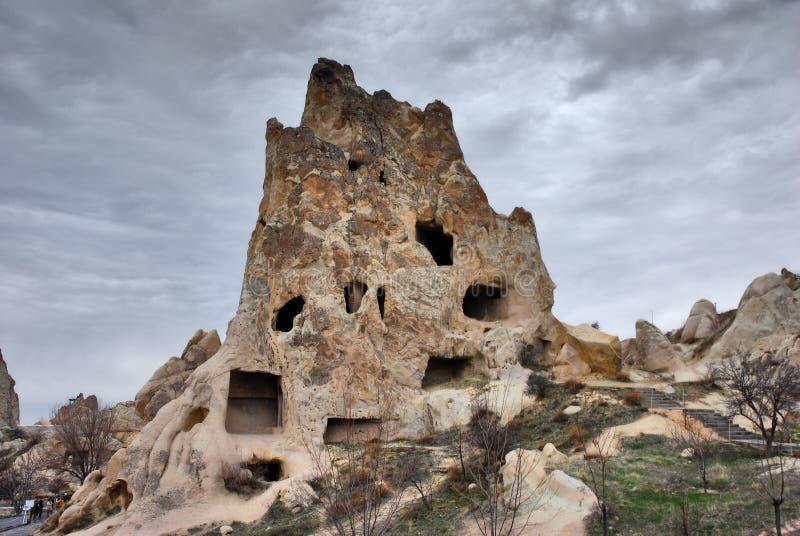Höhlenhäuser in Cappadocia, die Türkei stockbild