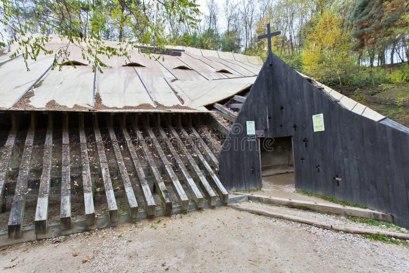 Höhlenkloster Sinca Veche in Brasov-Grafschaft Rumänien stockbild