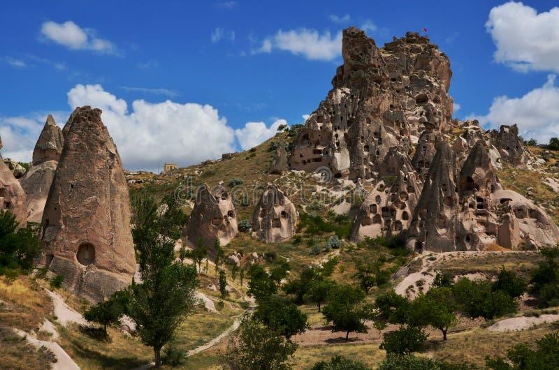 Höhlenregelungen von Cappadocia, die Türkei lizenzfreie stockfotos