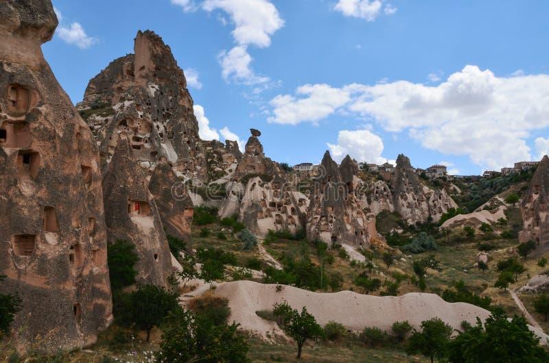 Höhlenregelungen von Cappadocia, die Türkei stockbild