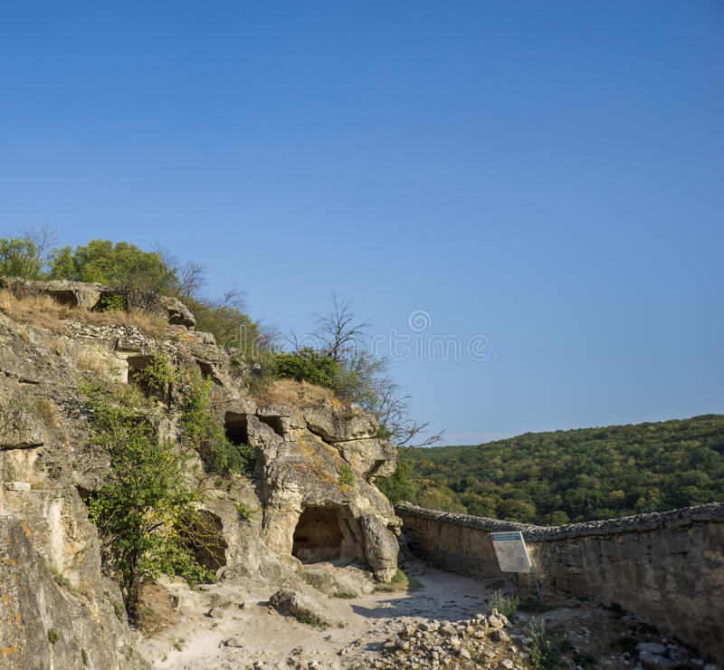 Höhlenstadt Chufut-Kohl, Bakhchisarai stockfotos