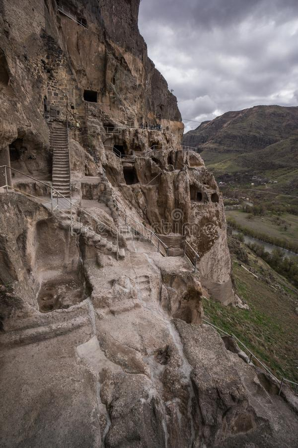 Höhlenstadt-vardsia alte georgische verlassene Stadt stockbild