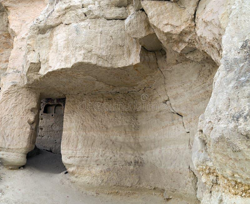 Höhlestadt in Cappadocia stockfotos