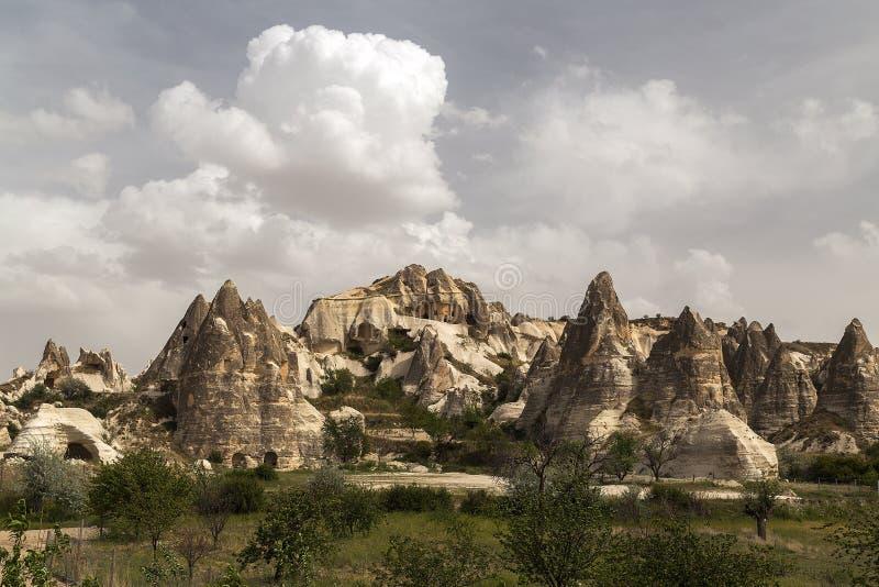 Höhlestadt in Cappadocia lizenzfreies stockfoto