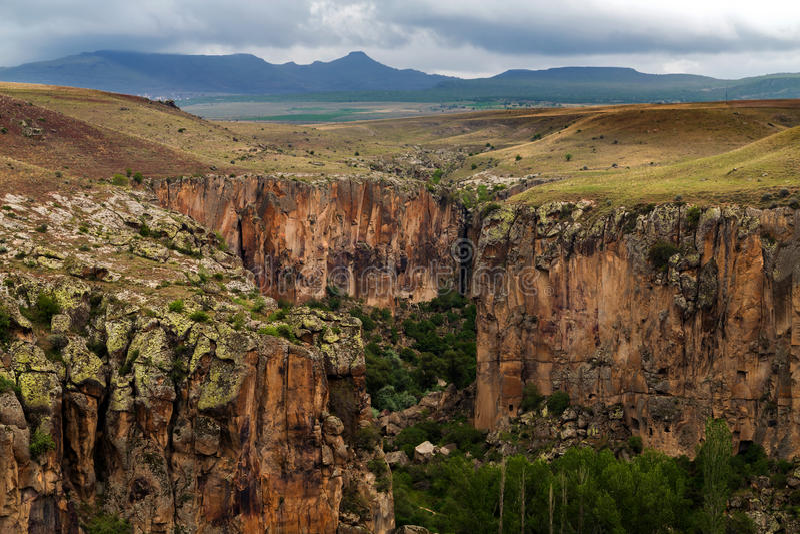 Höhlestadt in Cappadocia stockbilder