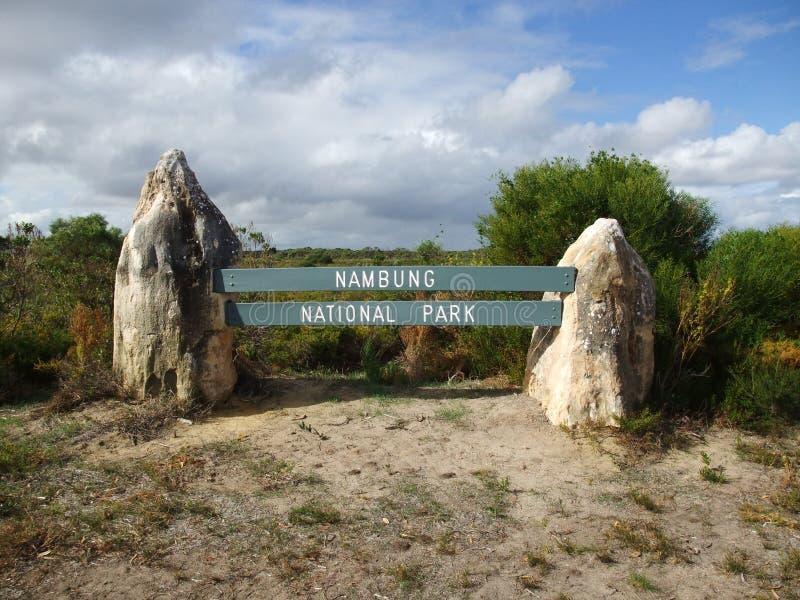 Höjdpunkt i den Nambung nationalparken arkivbild