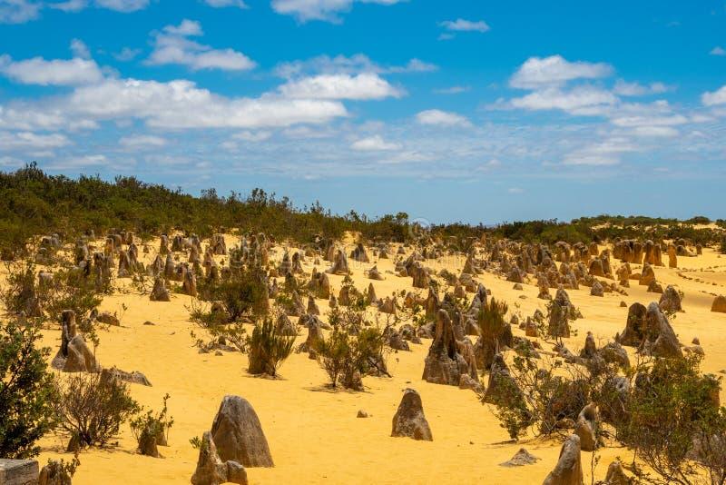 Höjdpunkterna deserterar i västra Australien på Indiska oceanen arkivbild