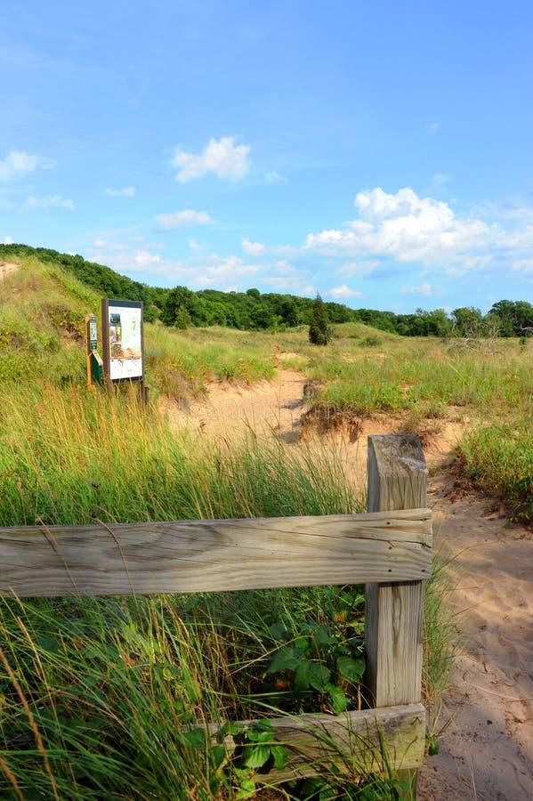 Hölje i nationalparken Indiana Dunes arkivbild