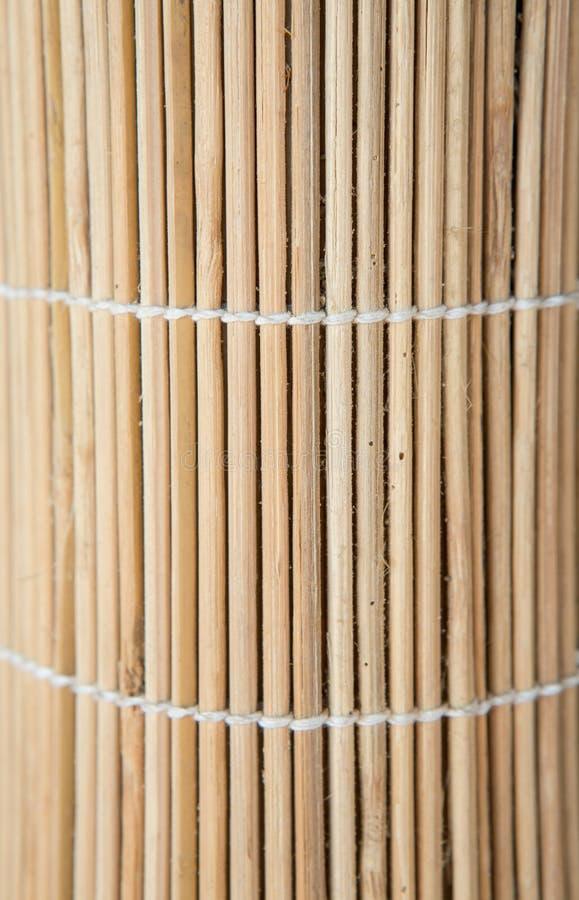 Hölzerne Bambusbeschaffenheit, Sushimattenbeschaffenheit lizenzfreie stockfotografie