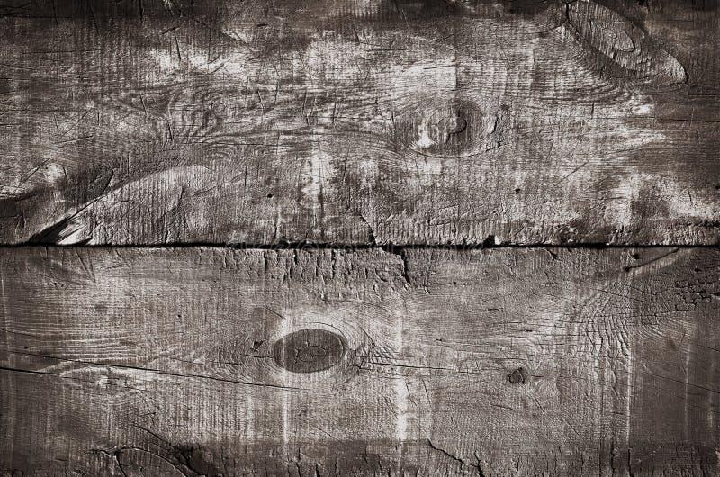 Hölzerne Beschaffenheit abgetönt in der weißen, Draufsicht des rustikalen Holztischs Schließen Sie oben von farbigem weißem Wandh lizenzfreie abbildung