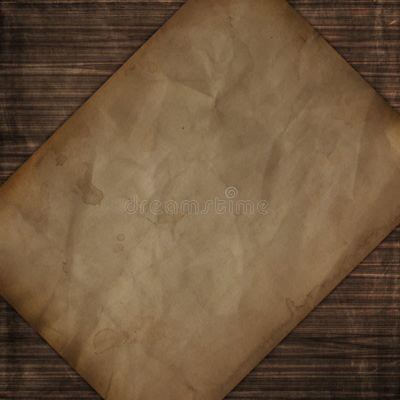 Hölzerne Beschaffenheit der Schmutzart mit altem Papierentwurf stock abbildung