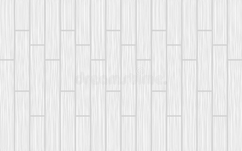 Hölzerne Beschaffenheit Weiße hölzerne Plankenbeschaffenheit Weißer Parketthintergrund lizenzfreie abbildung