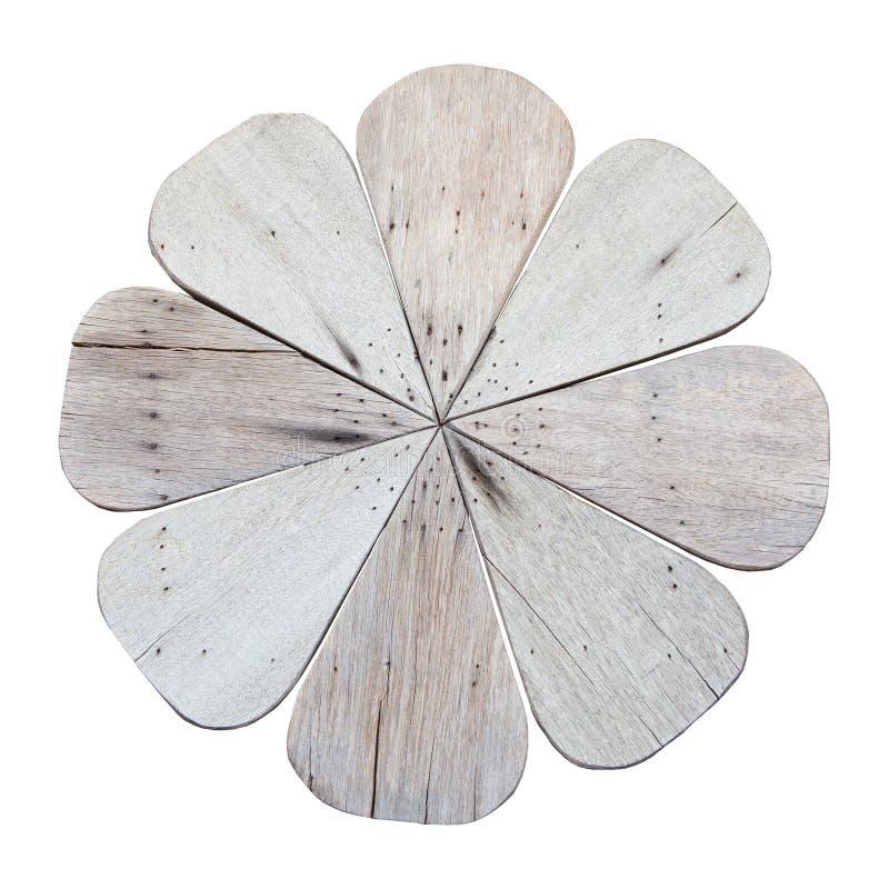 Hölzerne Blume lokalisiert lizenzfreies stockfoto