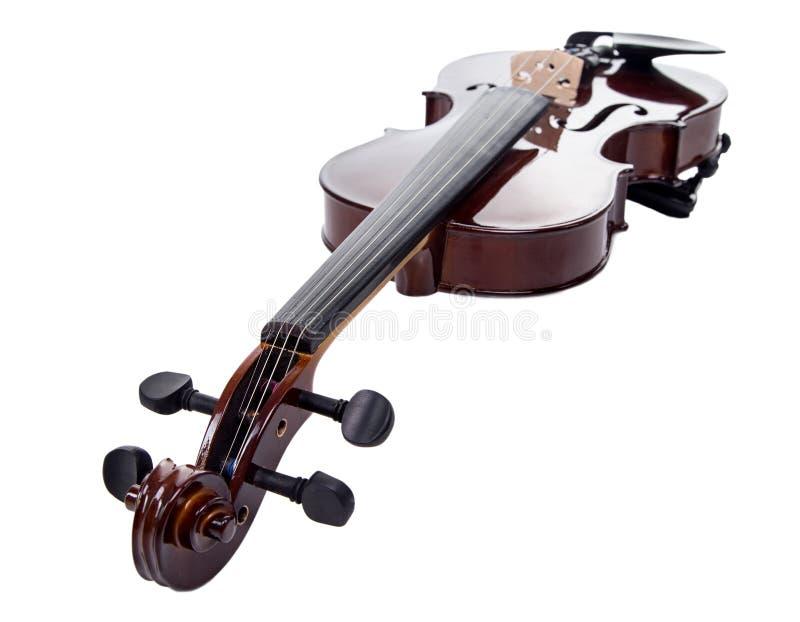 Hölzerne braune Geige lizenzfreies stockbild