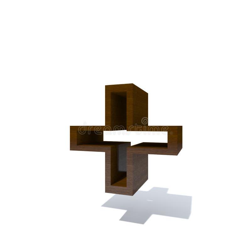 Hölzerne braune Guss- oder Art-, Bauholz- oder Bauholzindustrie vektor abbildung