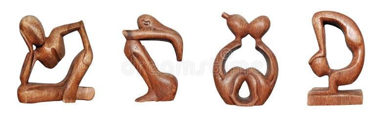 Hölzerne Figürchen lizenzfreie stockfotos