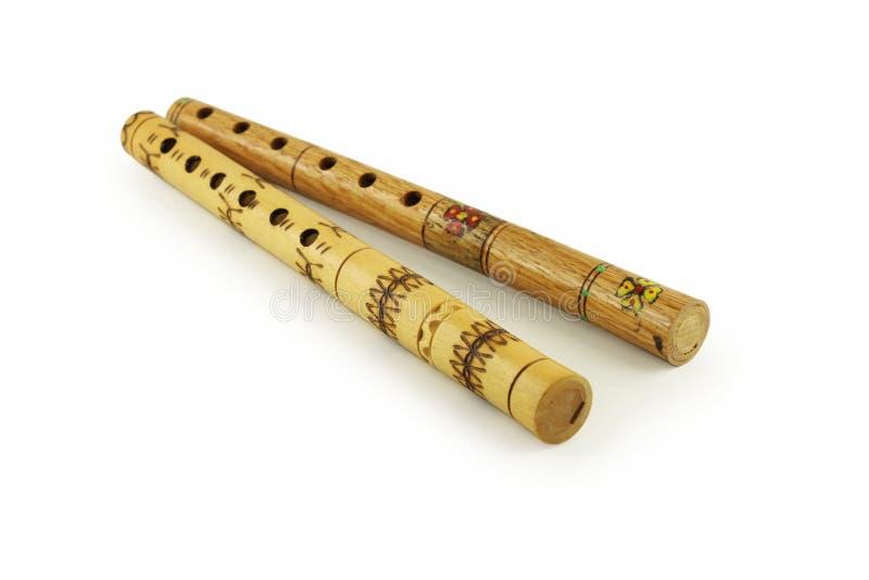 Hölzerne Flöten lizenzfreies stockbild