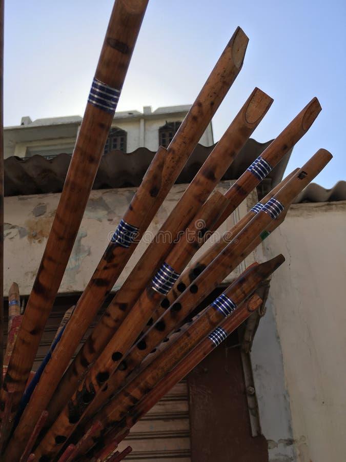 Hölzerne Flöten stockbild